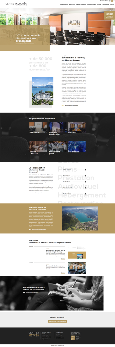 NEW WEBSITE for the Annecy Congress Centre